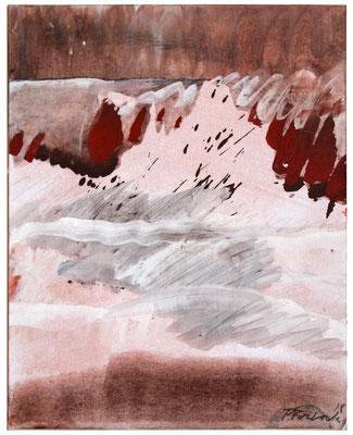 Red Earth I | Tempera auf Karton | 30x35 cm | 2018