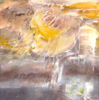 Excavations |  Tempera auf Holz | 50x50 cm | 2015