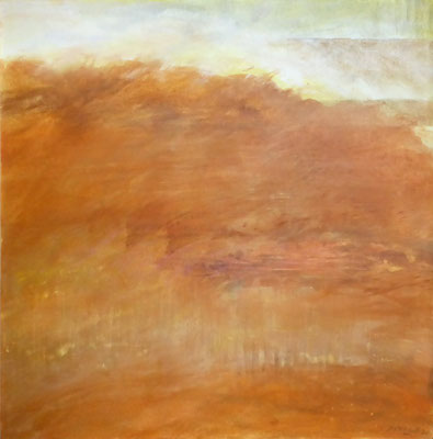 Erdwärme | Tempera auf Leinwand | 81x81 cm | 2020
