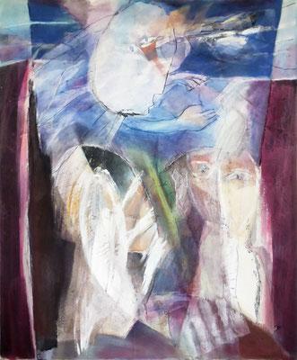 Geburt | Eitempera auf Leinwand | 100x120 cm | 1984