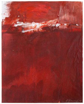Red Earth III | Tempera auf Karton | 30x35 cm | 2018