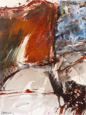 Erd_Innern I | Tempera auf Holz | 40x50 cm | 2012