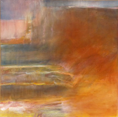 Terrain |  Tempera auf Holz | 50x50 cm | 2015