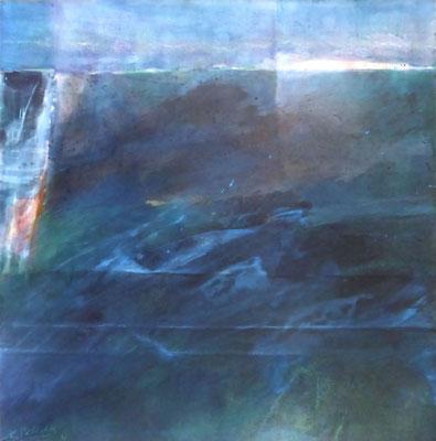 Ebene |  Tempera auf Holz | 60x60 cm | 2013