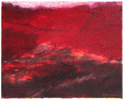 Inferno II | Tempera auf Leinwand | 30x25 cm | 2020