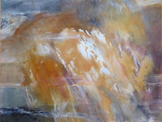 Erdklang XIV | Tempera auf Karton | Format: 82 x 62 cm |  2017
