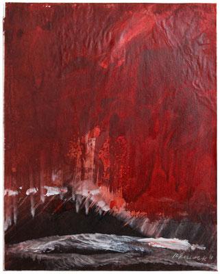 Red Earth IV | Tempera auf Karton | 30x35 cm | 2018