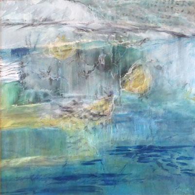 Water World |  Tempera auf Holz | 60x60 cm | 2017