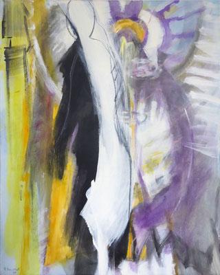 Mensch | Eitempera auf Leinwand | 80x100 cm | 1984