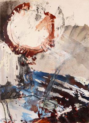 Erd_Innern III | Tempera auf Holz | 40x50 cm | 2012