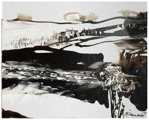 Kleine Landschaft II | Tempera auf Leinwand | 30x25 cm | 2019