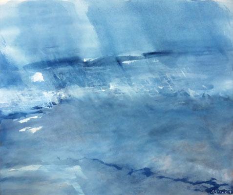 Silent Waters I | Tempera auf Leinwand | 72x62 | 2019