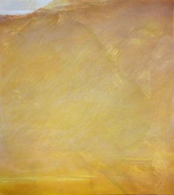 Gelbe Offenbarung | Tempera auf Leinwand | 91x81 cm | 2020