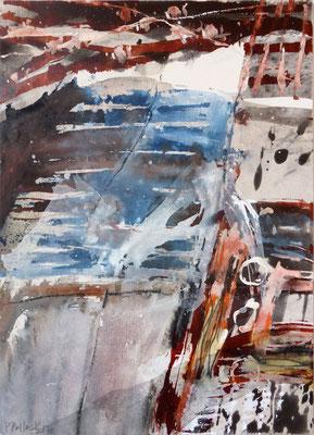 Erd_Innern IV | Tempera auf Holz | 40x50 cm | 2012