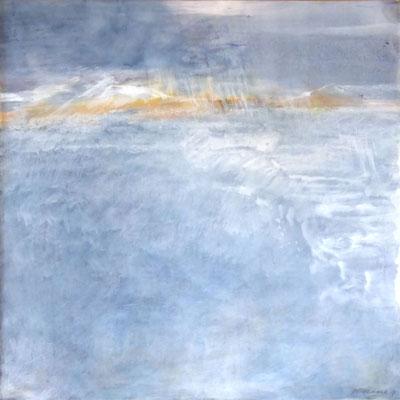 Sea View |  Tempera auf Holz | 60x60 cm | 2017