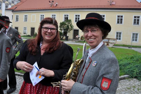 Obfrau-Stellvertreterin Sibylle Unterhumer und Obfrau: Andrea Pötz