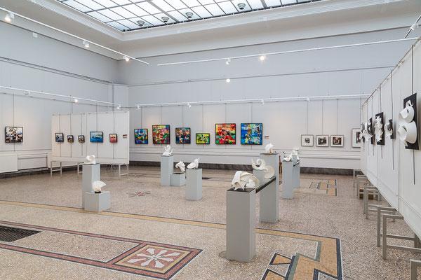 Sculptures de Jerôme Cerceau et peintures d' Anne Bironneau