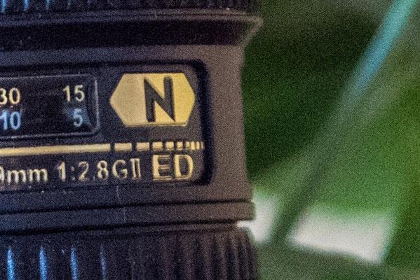 Detailausschnitt einer Aufnahme mit ISO 3200