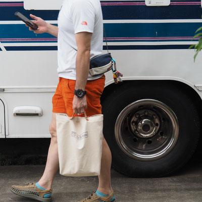 キナリ色の帆布エコバッグ