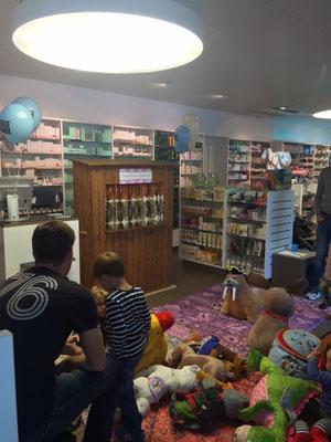 Jubiläum einer Apotheke spezialisiert auf Kinderprodukte