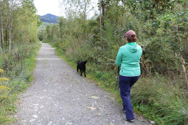 Athos und ich am Trail
