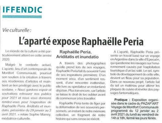 Article Hebdomadaire d'armor du 23.01.2021