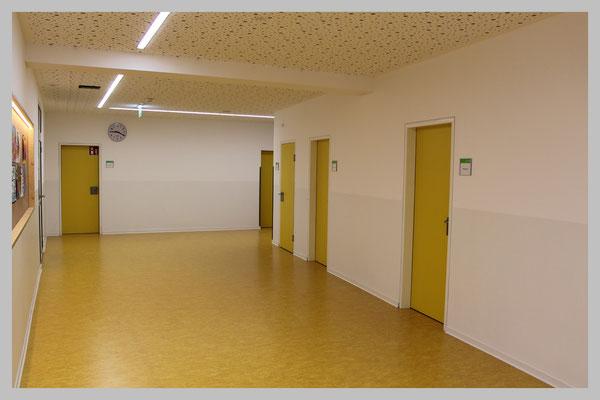 Gangbereich zu den fachspezifischen Räumen