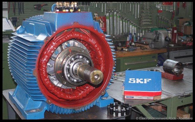 © Drehstrommotor reparieren Elektromotoren - Reparaturwerk Rock GmbH Abenberg (Bild 1)