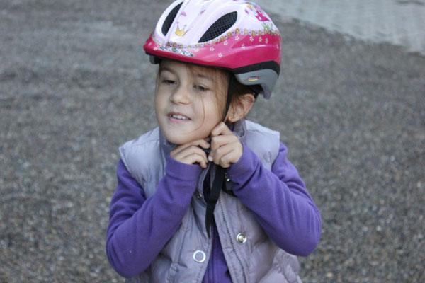 Immer mit Helm, ohne Frage!