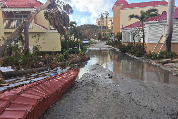Our second stay, a very luxury hotel complex, but destroyed, no water, no electricity, 10 cm of water on the floors.