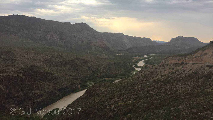 Rio Grande, border between Mexico and the USA