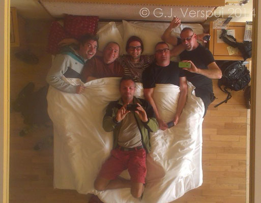 The team in the porn-bed