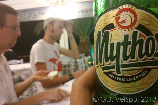 Mythos beer!