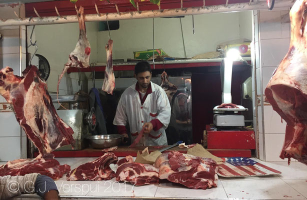The butcher inside our restaurant