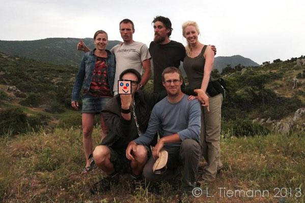The mainland Team, Cynthia, me, Bert, Laura, Bob and Jeroen. © Laura Tiemann