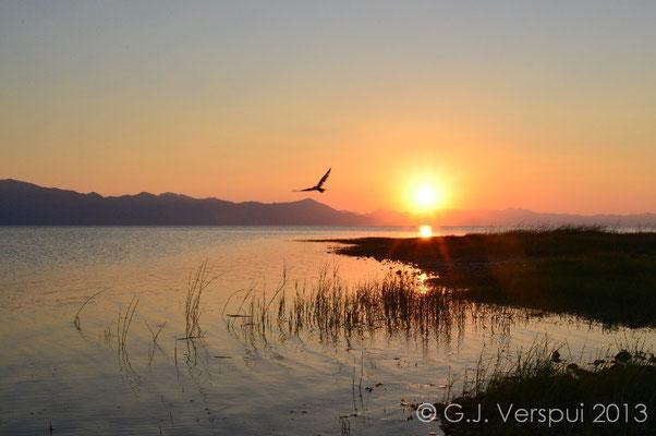 Sunset over Skutari Lake