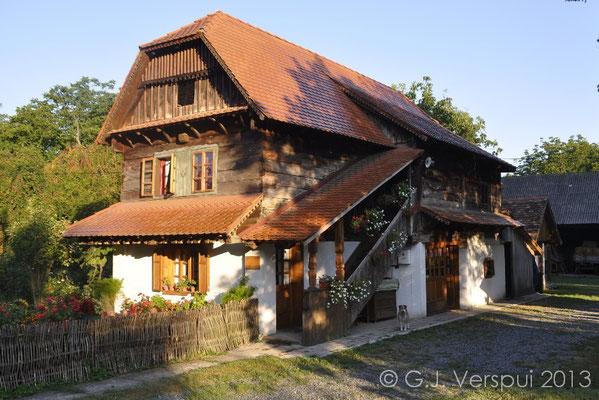 Croatian wooden houses.