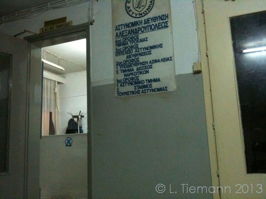 Inside the crappy police station.   © Laura Tiemann