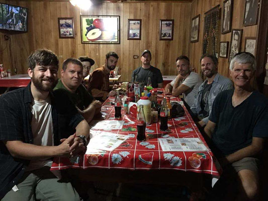 Dinner, Andrew, Matt, Nathan, Andy, Tim, me, Ross & John.