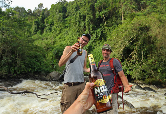 We are so cool, we drink Nile beer! © Laura