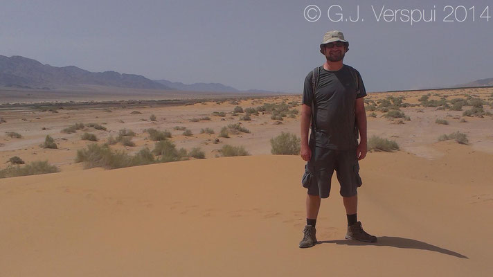 Dan in the sand dunes of the Arava Valley