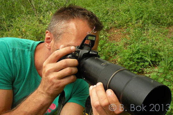 Me hiding behind a Praying Mantis - Empusa fasciata