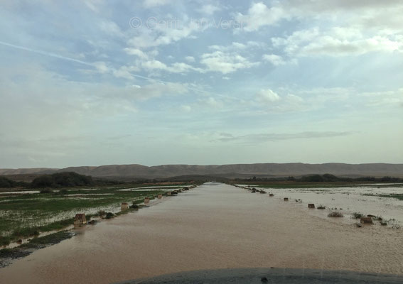 the road ahead is a bit wet