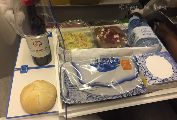 Airplane food is better with wine!