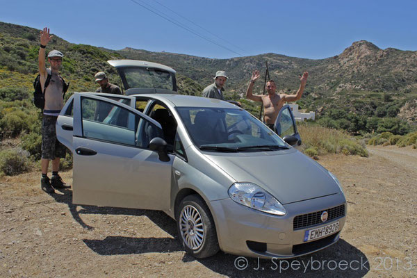 The rental car that survived our adventure.  © Jeroen Speybroeck