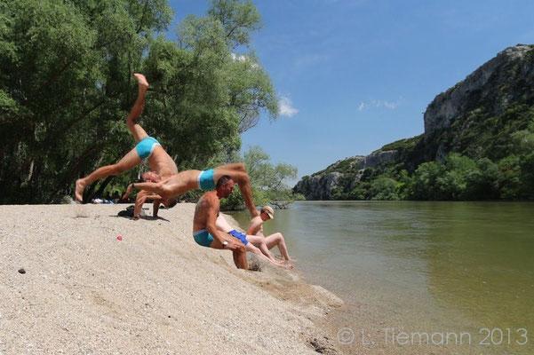 Nestos river fun.  © Laura Tiemann