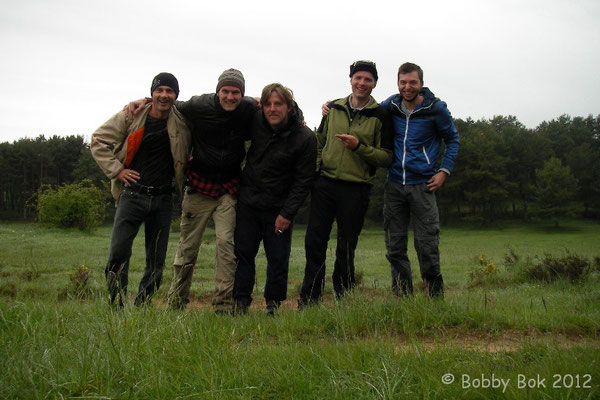 Frank, Bobby, Philip, me and Wouter