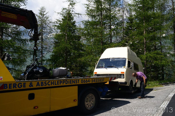 Not again..... Maybe the Großglockner Pass was too steap this time.