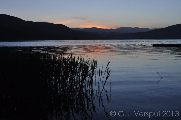 Prespa Lake at last light.