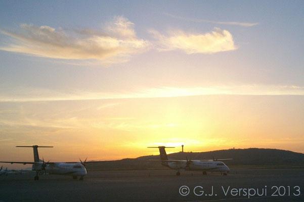 Athens airport around 06:00